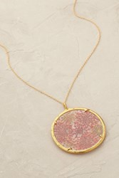Catherine Weitzman Maui Pendant Necklace Red Motif