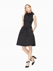 Kate Spade Bow Fit And Flare Dress Black