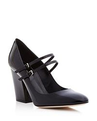 Sergio Rossi Betty Double Strap Mary Jane Pumps Black
