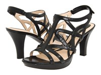 Naturalizer Danya Black Smooth Women's Sandals