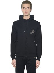 Dolce And Gabbana Horseshoe Zip Up Cotton Sweatshirt