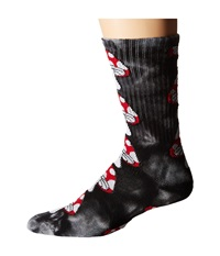 Huf Tie Dye Magic Crew Sock Black Crew Cut Socks Shoes