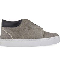 Senso Alex Croc Print Haircalf Trainers Grey