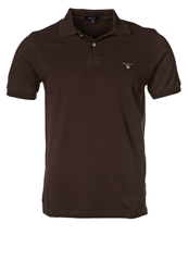 Gant Solid Pique Polo Shirt Dark Brown
