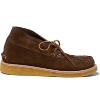 Yuketen Suede Wedge Chukka Boots Brown