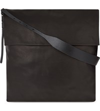 Rick Owens Mastodon Grained Leather Hobo Black