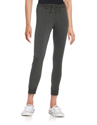 Betsey Johnson Cropped Jogger Pants Charcoal