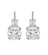 Carat Cushion Drop Earrings Female Silver