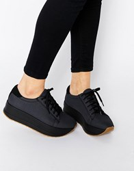 Vagabond Casey Dark Grey Flatform Trainers Dark Grey