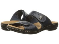 Clarks Leisa Lacole Navy Leather Women's Sandals Blue