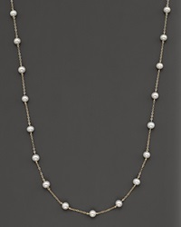 Bloomingdale's Freshwater Pearl And 14 Kt. Yellow Gold Multi Station Choker 18 No Color