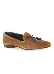 Topman Brown Tan Capon Suede Loafers