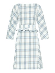 Trademark Belted Plaid Cotton Dress