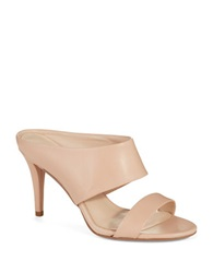Nine West Intilect Leather Mules Natural