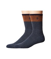Timberland Wool Crew 2 Pack Socks Gold Flame Brown Men's Crew Cut Socks Shoes Gray