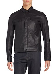 Helmut Lang Trucked Leather Jacket Black