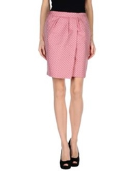 Monocrom Knee Length Skirts Pink