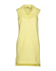 Veronique Branquinho Short Dresses Light Yellow