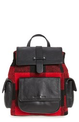 Treasure And Bond Utility Backpack Red Red Rio Plaid