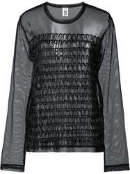 Comme Des Garcons Noir Kei Ninomiya Sheer Panel Top Black