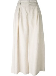 Opening Ceremony Deep Pleat Trousers Nude And Neutrals