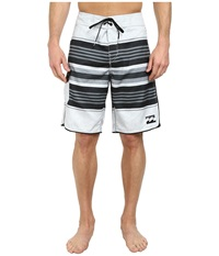 Billabong All Day Stripe 21 Boardshort Light Silver Men's Swimwear