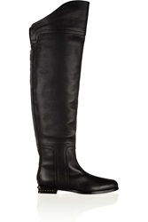 Maiyet Textured Leather Over The Knee Boots Black