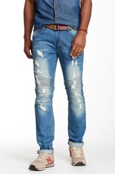 X Ray Washed Moto Skinny Jean Blue
