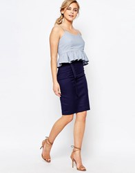 Oasis Pencil Skirt Navy