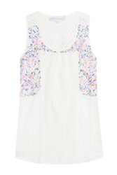 Christophe Sauvat Sleeveless Cotton Top With Embroidery White