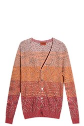 Missoni Diamond Knit Cardigan Orange