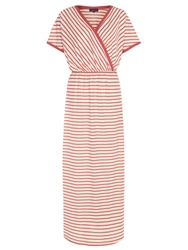 Hotsquash Striped Maxi Dress In Coolfresh Fabric Coral