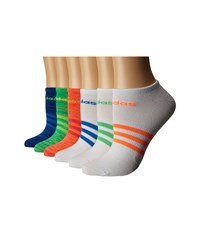 Adidas Superlite 6 Pack No Show Shock Red Glow Orange Space Dye Glow Orange Solar Green Shock Mi Women's No Show Socks Shoes Multi