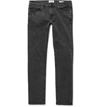 Frame L'homme Skinny Fit Stretch Denim Jeans Gray