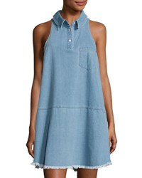 The Fifth Label Horoscopes Denim A Line Dress Light Blue