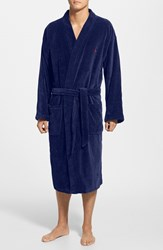 Men's Polo Ralph Lauren Velour Kimono Robe Navy