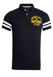 Superdry Super State Pique Polo Shirt Eclipse