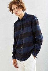 Cheap Monday Bolt Stripe Button Down Shirt Blue
