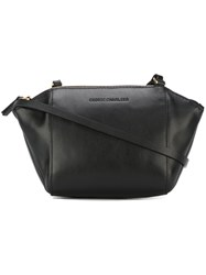 Cedric Charlier Structured Crossbody Bag Black