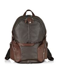 Piquadro Nylon And Leather Computer Backpack