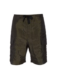 Paul Smith Patch Pocket Nylon Shorts Khaki