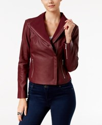 Inc International Concepts Faux Leather Moto Jacket Only At Macy's Port