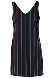 Oasis Summer Dress Multi Navy Dark Blue