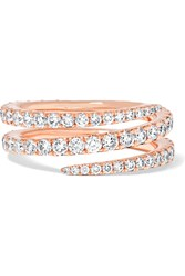 Anita Ko Coil 18 Karat Rose Gold Diamond Ring