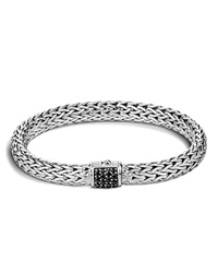John Hardy Classic Chain Sterling Silver Lava Medium Bracelet With Black Sapphire Black Silver