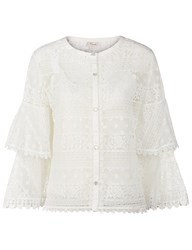 Temperley London White Lace Tiered Desdemona Blouse