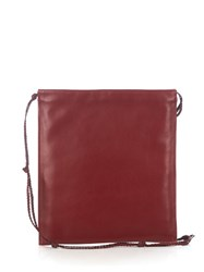 The Row Medicine Pouch Leather Cross Body Bag Burgundy