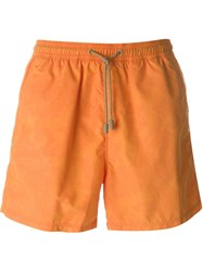 Etro Paisley Print Swim Shorts Yellow And Orange