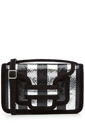 Pierre Hardy Striped Shoulder Bag With Snake Leather Stripes