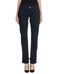 One Seven Two Trousers Casual Trousers Women Dark Blue